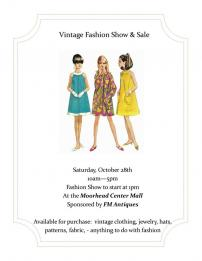 FM Antiques Vintage Fashion Show & Sale